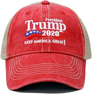 Trump 2020 Keep America Great Campaign Embroidered US Hat Baseball Trucker Cap New TC101