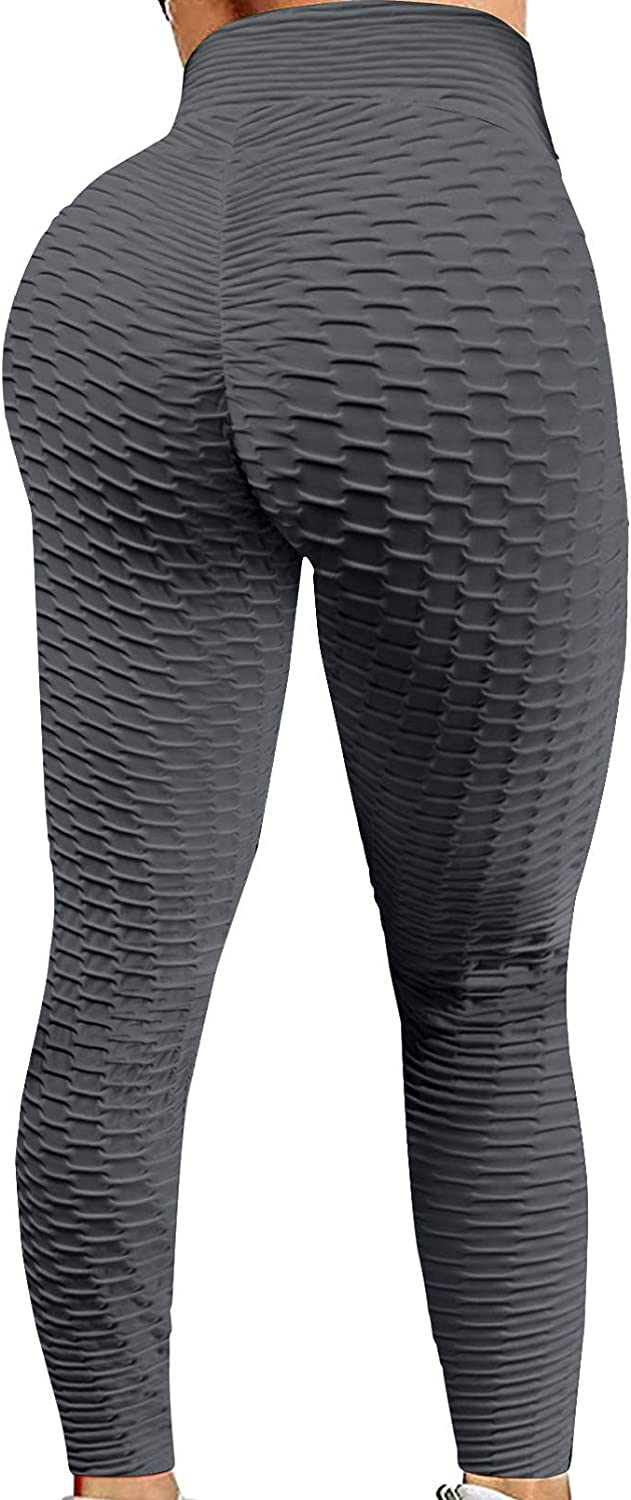 HOTAPEI Women's High Waist Yoga Pants Tummy Control Butt Lifting Leggings Workout Compression Tights