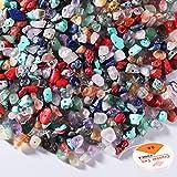 SOSMAR 600 Piezas de Cuentas de Piedras Preciosas de Forma Natural con Agujero para Manualidades, Cuentas de Piedra Natural para Enhebrar Pulseras de Bricolaje, Collar, Fabricación de Joyas, etc.