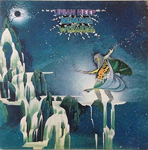 URIAH HEEP Demons and Wizards. GREAT COPY. First UK pressing 1972, matrix A-1U bronze records.