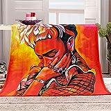 WJYMJJ Manta de Franela Mujer roja Manta Polar 100% Microfibra Extra Suave, Manta de sofá, de Cama o de Sala de Estar 130x150 cm