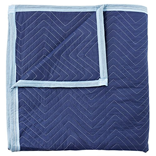 """Sure-Max 12 Moving & Packing Blankets - Deluxe Pro - 80"""" x 72"""" (40 lb/dz Weight) - Professional Quilted Shipping Furniture Pads Royal Blue"""