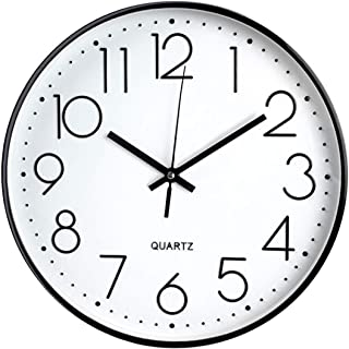 Tebery 30 cm Reloj de Pared sin Tic TAC, Modern, silenciosa