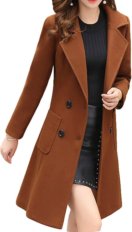 Diot Sweater Wool Coat Blends Women Woolen Coats High End Quality Elegant Long Winter Jackets