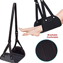 KaiKai Foot Hammock Under Desk Foot Rest protable Legs up Hammock Swing Comfy Hanger Airplane Feet for Your Office Nap Home footrest