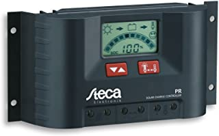 Steca 太阳能电池板充电控制器调节器,带 LCD 显示屏和直接输出适用于 12 伏负载(1 个装),PR1515