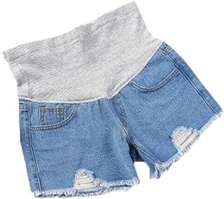 Pantaloncini di Jeans in maternit/à,TTMall Jeans Premaman Donna Pantaloncini Donna Premaman Shorts Jeans Leggings maternit/à Regolabile Ventre Banda Pantaloni