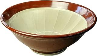 元重製陶所 石見焼 すり鉢 4号 (直径12cm・すべり止め付) 赤茶色
