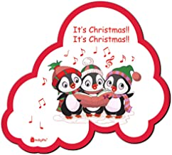 Indigifts Xmas Gifts It's Christmas !! Quote Cute Penguins White 6 x 8 cm Fridge Magnet - Christmas Decorations for House, Christmas Souvenir, Christmas Gift, Magnets for Fridge