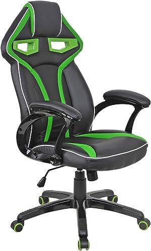 popular Giantex popular Racing Bucket Seat Office Chair High Back Gaming Chair Desk online sale Ergonomic Green outlet sale