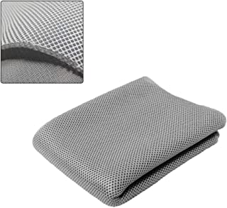 NOMACY Silver Gray Speaker Grill Cloth Stereo Mesh Fabric for Speaker Repair - 55 x 20 Inch (140 x 50 Centimeter)