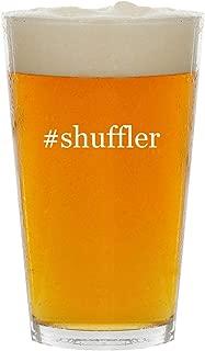 #shuffler - Glass Hashtag 16oz Beer Pint