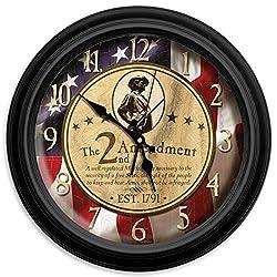 2nd Amendment Classic Wall Clock, 16-Inch