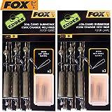 FOX Submerge Camo Heli Rigs Kwik Change 75cm - 3 Karpfenmontagen zum Angeln auf Karpfen, Karpfenvorfächer für Helirig, Vorfächer, Tragkraft:30lbs/13.6kg