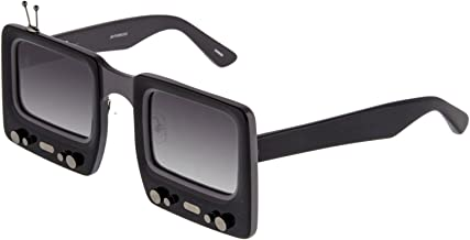 LINDA FARROW Jeremy Scott TV SPECS Black Grey Polarized Sunglasses TVSPECS