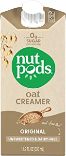 nutpods Oat Original, (12-Pack), Unsweetened Dairy-Free Creamer, Nut-Free Creamer, Made from Oats, Gluten Free, Non-GMO, V...