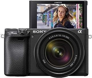 Sony Alpha 6400MB - Cámara compacta de 24.2 MP (Sensor APS-C CMOS Exmor R montura E procesador Bionz X 425 puntos de AF grabación 4K) - Kit cuerpo con objetivo SEL18135