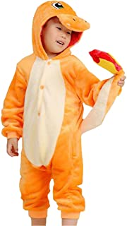 Kids Cartoon Onesies Pajamas Children's Unisex Cosplay Costume Sleepwear Charmander