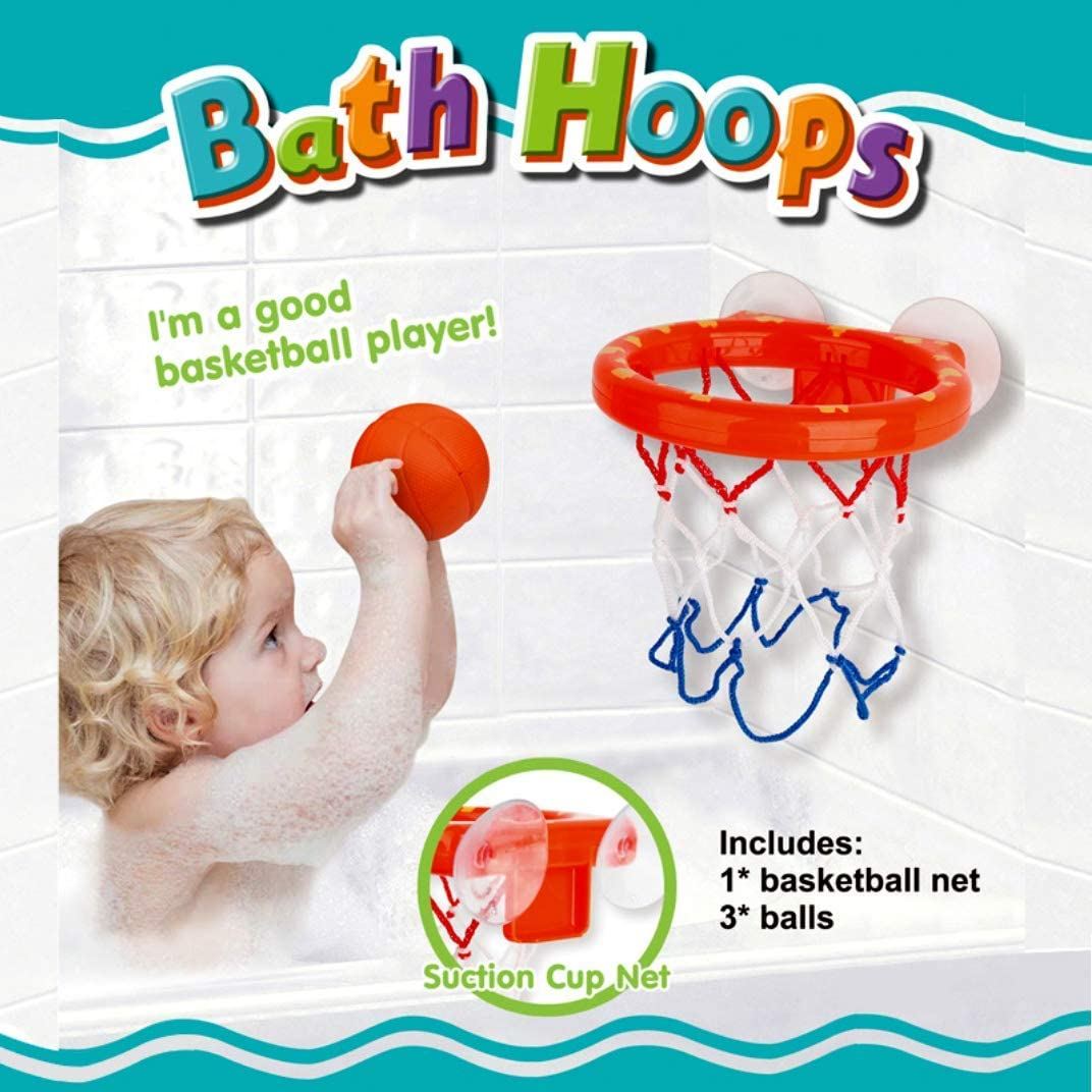 Colorful life Fun Basketball Hoop Bath Toy Set