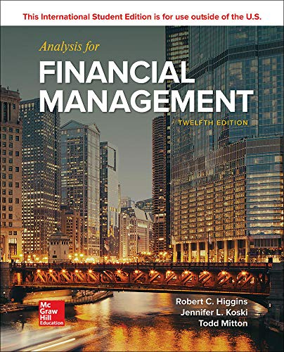 ISE Analysis for Financial Management (ISE HED IRWIN FINANCE)