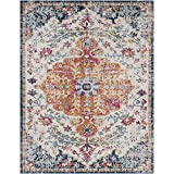 Artistic Weavers Odelia Updated Traditional Rug Orange/Navy 7'10' x 10'3
