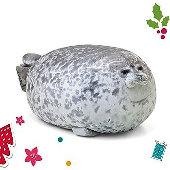 Mascot20 Blob Seal Pillow Stuffed Cotton Plush Animal Toy Cute Ocean Pillow Pets Grey Medium 60CM/…