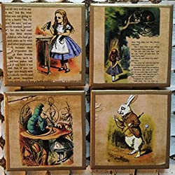 alice in wonderland quotes on coasters