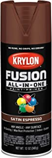 Krylon K02738007 Fusion All-in-One Spray Paint, Espresso