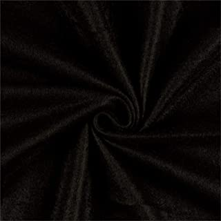 Newcastle Fabrics Polar Fleece Solid Black Fabric By The Yard