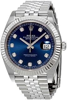 Rolex Datejust Blue Diamond Dial Automatic Mens Jubilee Watch 126334BLDJ
