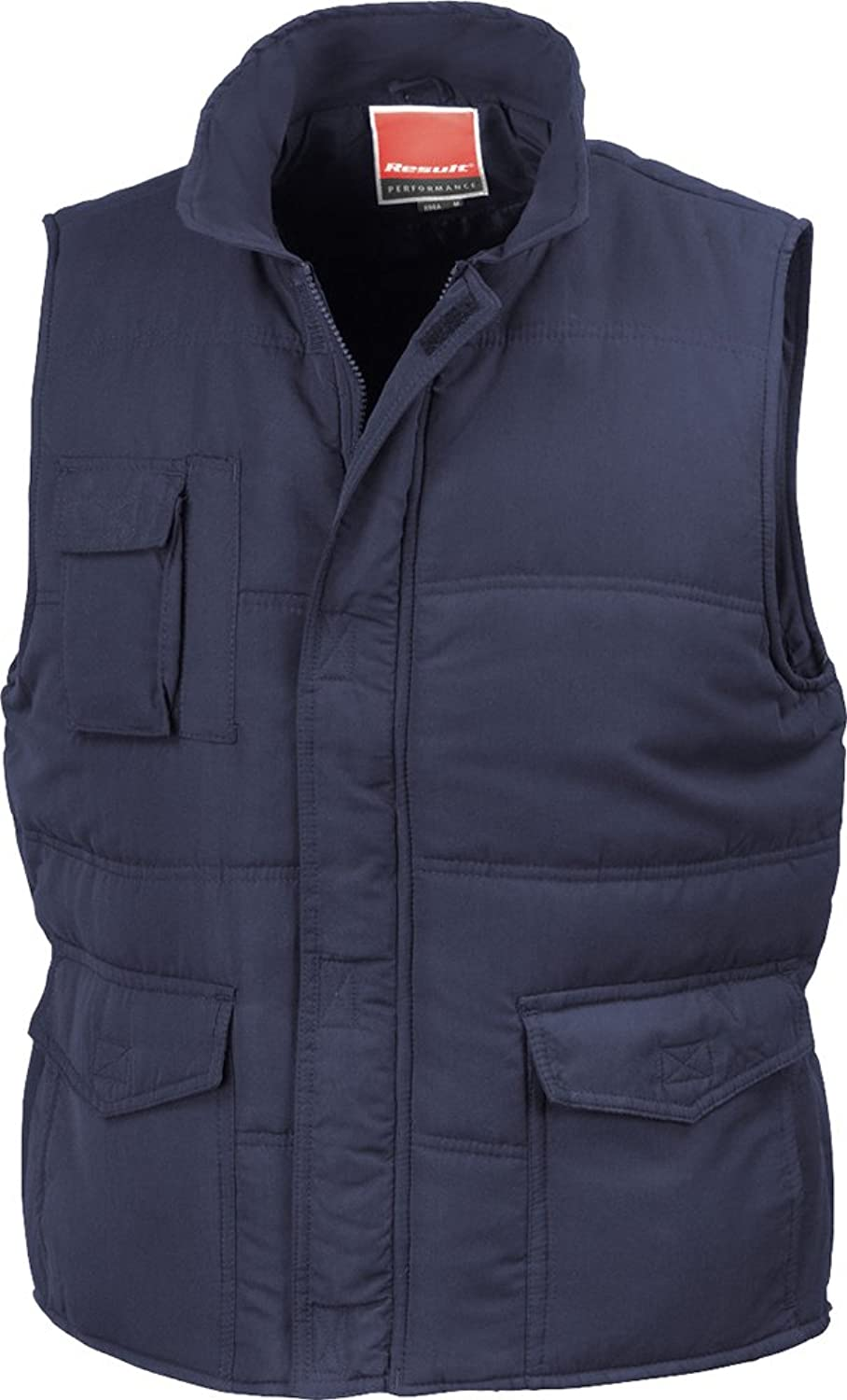 (4X-Large, Navy) - Result Promo Mid-Weight Bodywarmer