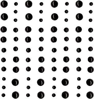 Artemio 11060307 - Juego de 80 Cuentas Adhesivas de plástico, Color Negro, 10 x 0,3 x 12,5 cm