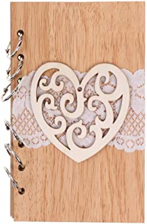 JMcall® Classic Kraft Paper Wooden Notebook Portable Creative Love Diary Book Gift(Multicolor)