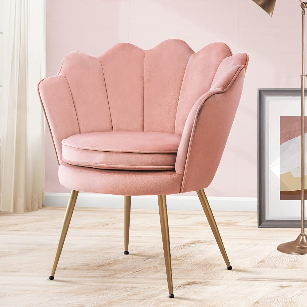 Accent Chair online shop Velvet Fabric Light Chairs Vanity Clearance SALE Limited time with Pink