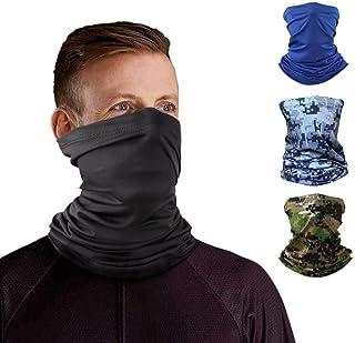 Ice Silk Viscose Fiber Neck Gaiter Headband Tube Bandana Elastic Scarf Sunscreen Balaclava Wicking Cooling Face Mask Dust ...