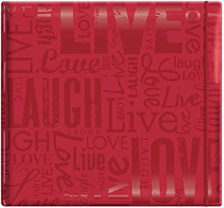 MCS MBI 13.5x12.5 Inch Embossed Gloss Expressions Scrapbook Album with 12x12 Inch Pages, Red, Embossed