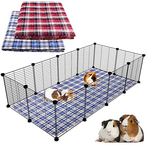 """Blaoicni 2 Pack Guinea Pig Bedding Guinea Pig Cage Liners Washable Pee Pads with Fast Absorbent Waterproof Reusable Non-Slip 24""""x 47"""""""