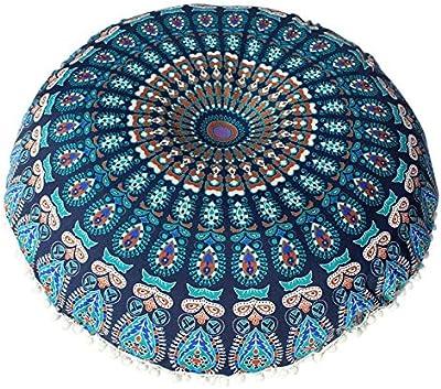Amazon.com: Lavany Indian Mandala Almohadas Redondo Bohemio ...