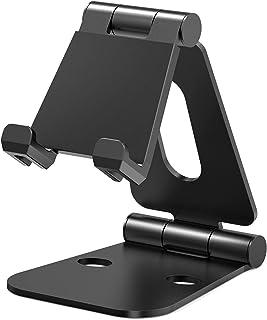 Nulaxy iPadスタンド タブレットスタンド スマホスタンド 充電スタンド 折り畳み式 270°自由調整可能 4-10インチに対応 Nintendo Switchスタンド A3(ブラック)