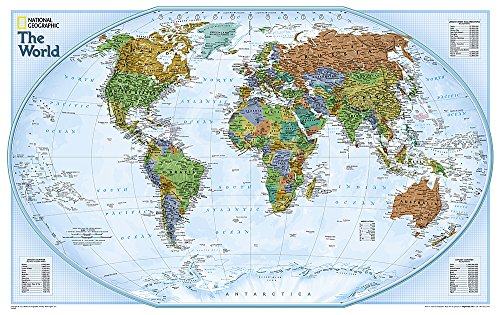National Geographic: World Explorer Wall Map (32 x 20 inches) (National Geographic Reference Map)