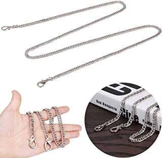 Purse Chain Strap Replacement DIY Metal Chain Strap with Buckles for Shoulder Cross Body Bag Handbag Purse Clutch Wallet Satchel Tote Chains Accessories (Sliver)
