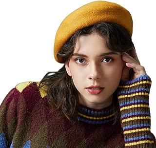 ROYBENS Merino Wool Berets for Women Girls, Classic Plain French Style Artist Hat Gift