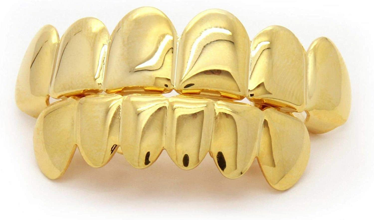 UkrGoods Custom 14K Gold Plated Hip Hop Teeth Grillz Top & Bottom Grill Set w/Tools Body Unique Beautiful Daily Style Stylish Styling Piercings Decoration Aesthetic