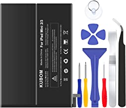 KUBOM Replacement Battery for iPad Mini 2/Mini 3, Full 6471mAh 0 Cycle Battery - Include Complete Repair Tool Kits [ 18-Month Warranty]