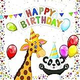 20 Servietten Tierischer Geburtstag als Tischdeko für Kinder zum Kindergeburtstag 33x33cm