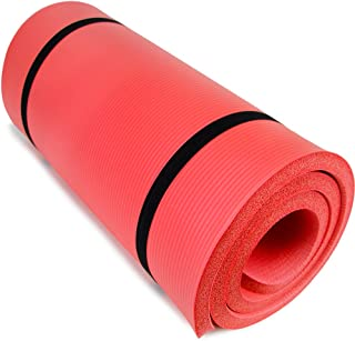 """Crown Sporting Goods Yoga Cloud Ultra-Thick 1"""" Yoga and Exercise Mat with Shoulder Sling by"""