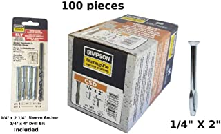 Simpson Strong Tie EZAC37434 3//8 x 4-3//4 Easy-Set Pin Drive Expansion Anchor 50 per Box