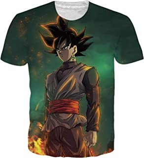 20e03aeeb OPCOLV Men's Dragon Ball z Shirt Goku Cool Graphic 3D Printed Short Sleeve T -Shirts