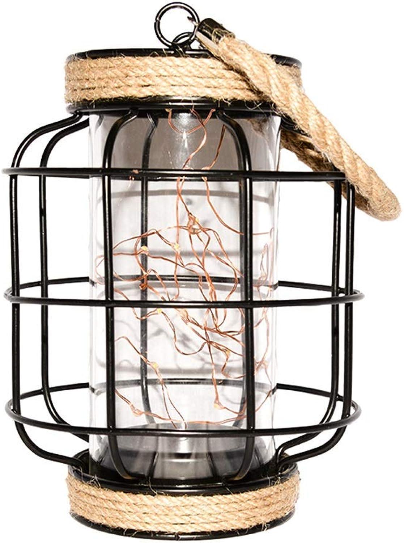 Table LAMP Home Eisen Tischlampe, Batterie Tischlampe, Bar Schlafzimmer Nacht Villa Tischlampe, 13.5  13.5  19CM E27 Schlafsaal Lampe (Größe   13.5  13.5  19CM)