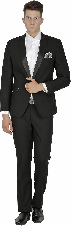 LUXURAZI Men's Premium Peak Lapeled Wedding/Business Tuxedo Suit